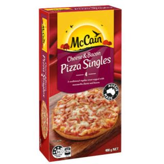 CHEESE & BACON PIZZA SINGLES 32S MCCAIN