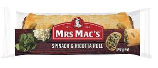 SPINACH & RICOTTA ROLL 140GM X 18 MRS MACS