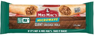 GIANT BEEF SAUSAGE ROLL 175GM X 24 MRS MACS