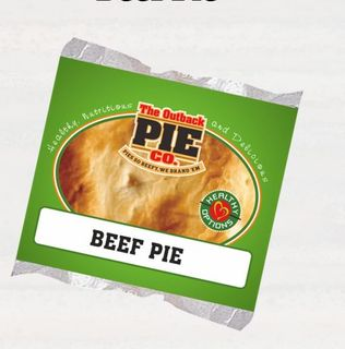 HEALTHY OPTIONS BEEF PIES 175GM X 24 OUTBACK