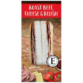 SANDWICH ROAST BEEF, CHEESE & RELISH12 X 172G