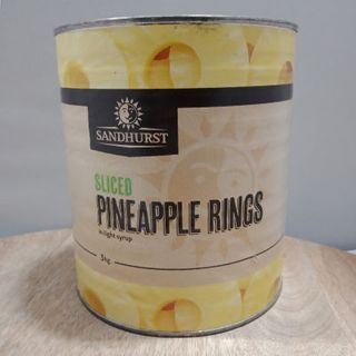 PINEAPPLE RINGS IN SYRUP A10 SANDHURST