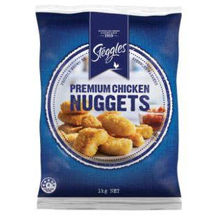 CRUMBED CHICKEN NUGGETS PREMIUM 1KG STEGGLES