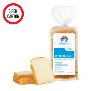 BREAD SLICED WHITE 6X700G TIP TOP