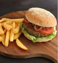 BEEF BURGER PATTY PAR-COOKED 120GM X 60 ANGEL BAY