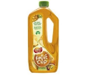 CORDIAL FRUIT CUP 2LTR GOLDEN CIRCLE
