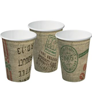 COFFEE CUP S/W 12 OZ JUTE