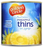 Pineapple Thins In Syrup A10 Golden Circle
