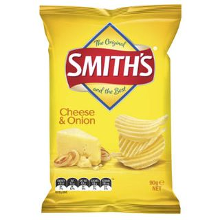 CHIPS C/CUT CHEESE & ONION 90GX18 SMITHS