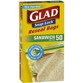 GLAD SNAPLOCK SANDWICH BAGS 50S