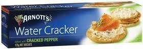 CRACKERS WATER PEPPER 125G
