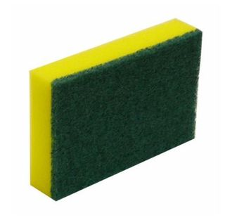 Scourer Sponge Green & Yellow 10Pk