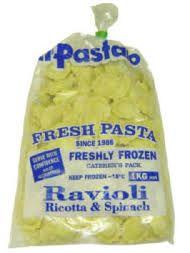Spinach & Ricotta Ravioli Frozen 1Kg Il Pastaio