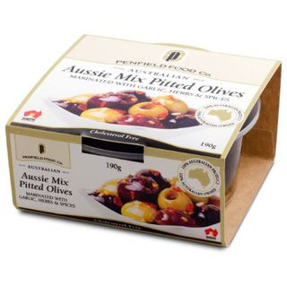 Aussie Pitted Mix Whole Olives - Garlic, Herbs, Sp