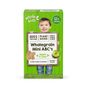 Organic Mini ABC Biscuits - Apple & Chia 6pk 30g