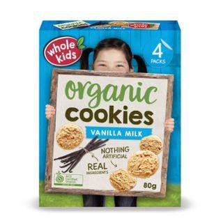 Organic Cookies - Vanilla 6PK Multipack 80g