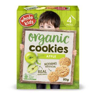 Organic Cookies - Apple 6PK Multipack 80g