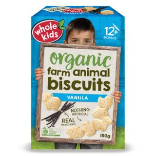 Organic Farm Animal Biscuits - Vanilla 6pk 150g