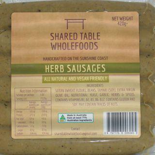 Vegan Sausages - Herb & Garlic (6pk) 420g (Chilled)