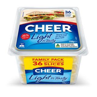 Cheese Slices Lite & Tasty 750g Cheer