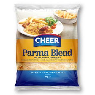 Cheese Shredded Parma Blend 2kg Cheer