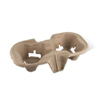 Drink Tray 2Cup Pulp Moulded Detpak 600S