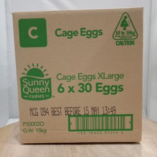 EGGS EX LARGE CATER PACK TRAYS 10.5KG 180S