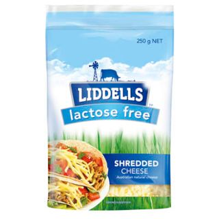 CHEESE SHREDDED LACTOSE FREE 250GM LIDDELLS