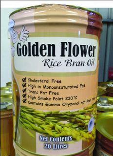 OIL RICE BRAN 20 LTR DRUM GOLDEN FLOWER