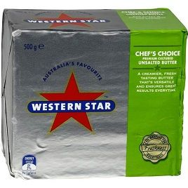 BUTTER UNSALTED 500GM WESTERN STAR
