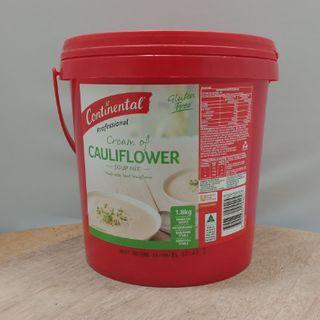 SOUP CREAM OF CAULIFLOWER 1.8KG GF CONTINENTAL