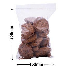 Bag Press Seal Poly 50Um 150X205Mm 100'S