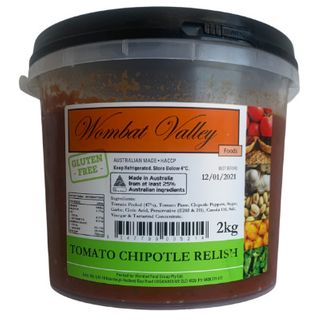 Relish Tomato Chipotle 2Kg Wombat