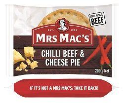 PIE CHILLI BEEF CHEESE 200GX12 MRS MACS
