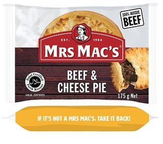 PIE HALAL BEEF & CHEESE 175GX12 MRS MACS