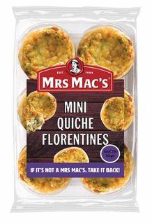 QUICHE MINI TARTZ FLORENTINE 50GX48 MRS MACS