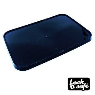 LID LOCKSAFE BLACK RECTANGLE 100S