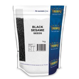 SESAME SEEDS BLACK 1KG TRUMPS