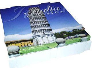 PIZZA BOX LEAN TOWER PISA WHT 9 INCH 50S