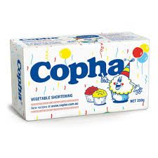 COPHA VEGETABLE SHORTENING 250GM