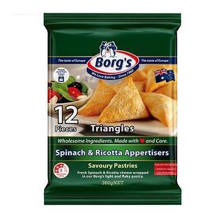 Borg'S Pastizzis Triangles Spinach & Ricotta 360Gm