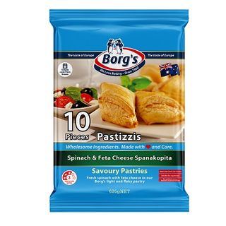 Borgs Greek Spin & Feta Pastizzi 10Pck