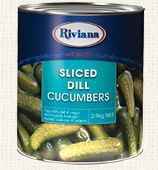Dill Cucumbers Sliced Riviana 2.9Kg Tin