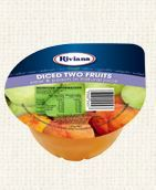 TWO FRUITS CUPS RIVIANA 12X120G TRAY