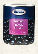 OLIVES RIVIANA BLACK PITTED 3KG