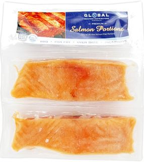 SALMON SKIN ON PORTIONS TWIN PACK 2X125GM
