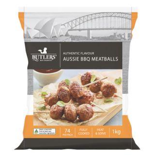 Meatballs Aussie Bbq 1Kg Butlers
