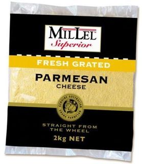 PARMESAN CHEESE GRATED 2KG MILLEL