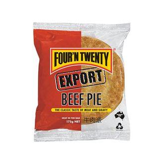 PIE EXPORT HALAL BEEF 175GX24 FOUR N TWENTY
