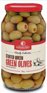 OLIVE GREEN QUEEN STUFFED 2KG SANDHURST